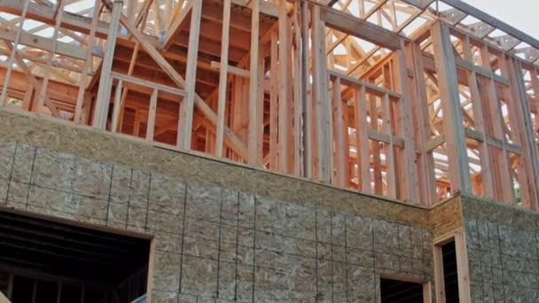 Hochbau, Holzrahmenbau am neuen Baugebiet