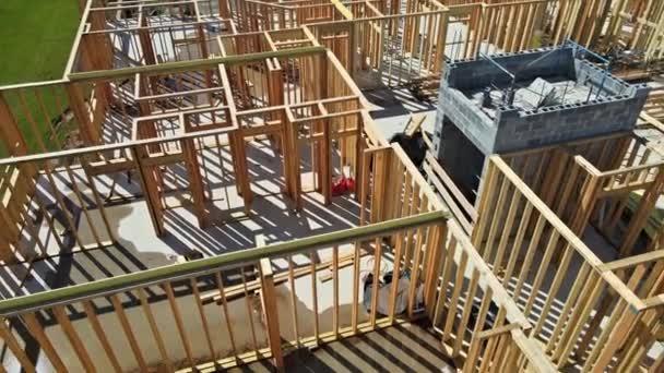 Holzhaus Hausbau Balken Rahmen Wohnhaus