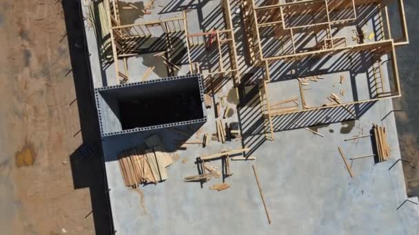 Wood on built new home framing a house under construction