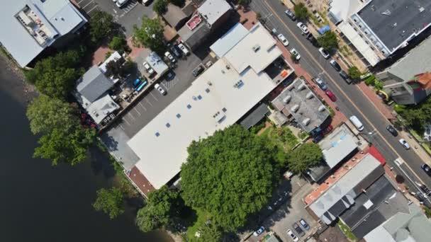 Légi kilátás a történelmi város New Hope Pennsylvania a kisváros lakóövezet külvárosi