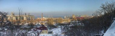Odessa, Ukraine - 01.19.2018. Winter morning on Primorsky Boulevard in Odessa, Ukraine. Panoramic view