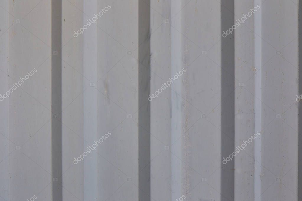 Background, texture corrugated metal, gray stripes