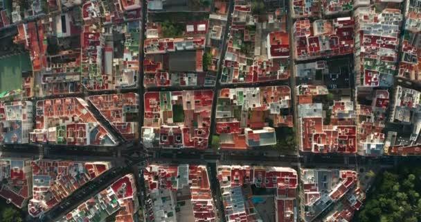 Top view aerial video of development infrastructure city, Spain, Tenerife, Santa Cruz de Tenerife.