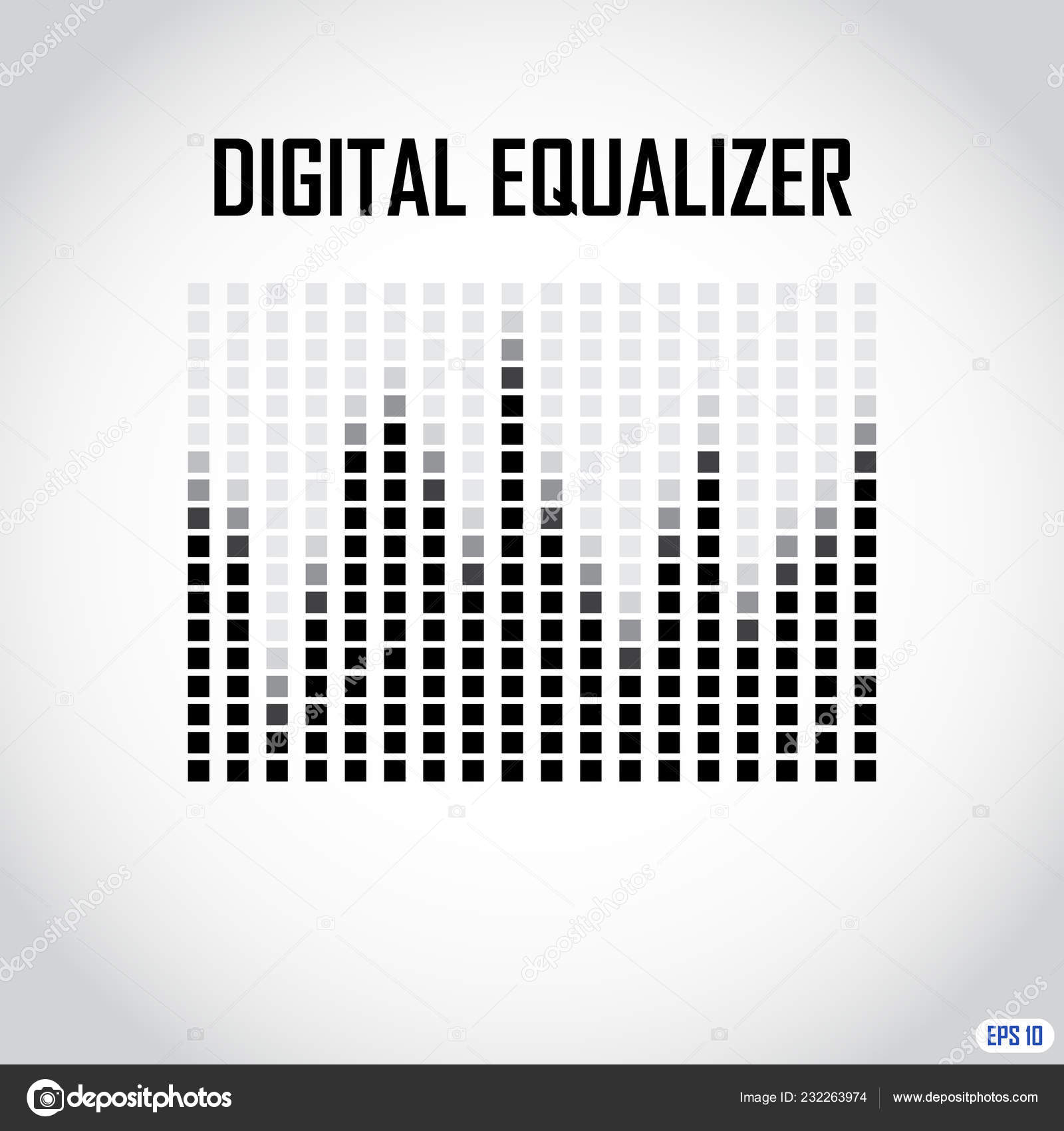 Digital Equalizer Eps — Stock Vector © mrsert #232263974