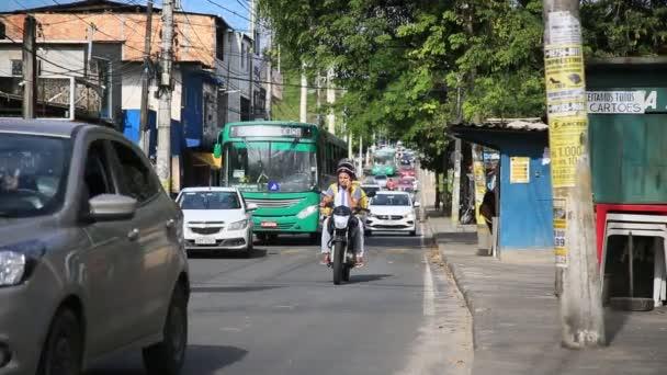 salvador, bahia / brazil - july 10, 2020: vehicle traffic in the Narandiba neighborhood in the city of Salvador, during a corona virus pandemic.