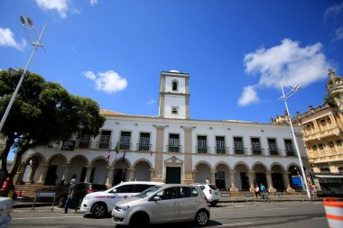 salvador, bahia / brazil - august 23, 2016: facade of the city council of the city of Salvador.