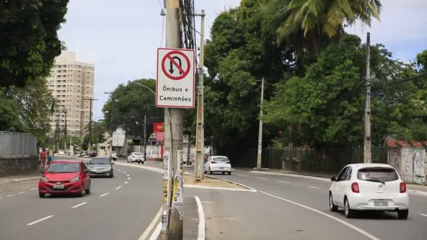 salvador, bahia, brazil - 9 december, 2020: movement of vehicles on public roads in the city of Salvador.