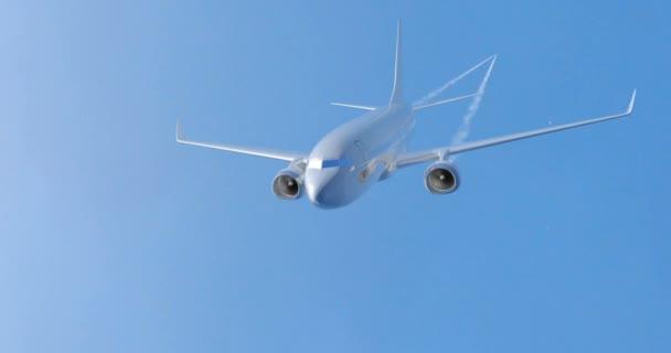 Letadlo letící na obloze. 3D vykreslování. Alfa matný