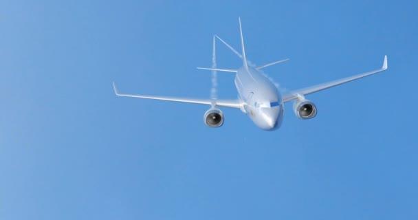 Flugzeug in den Himmel fliegen. 3D-Darstellung