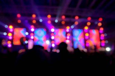 Blur background concert lighting on stage