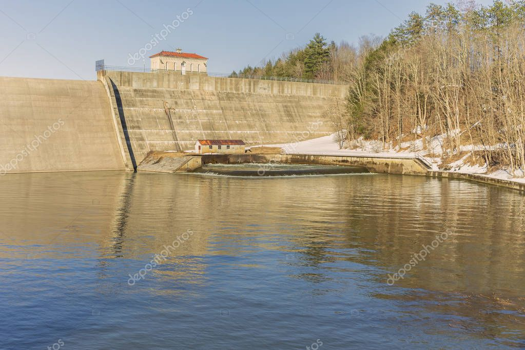 Delta Dam State in The City of Rome in Upstate, NY - Behind This Dam is Delta Reservoir and Also A State Park Lake (Tourism & Family Beach)