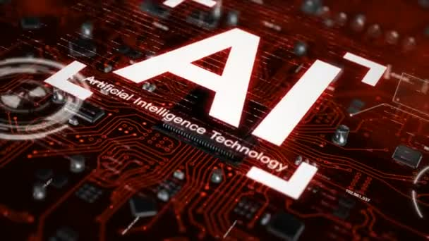 3D render AI artificial intelligence technology CPU central processor unit chipset on the printed circuit board for electronic and technology concept select focus shallow depth of field with dark and grain processed