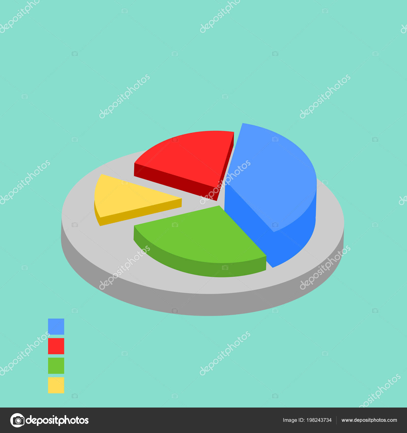 modern vector business pie chart infographic elements stock vector