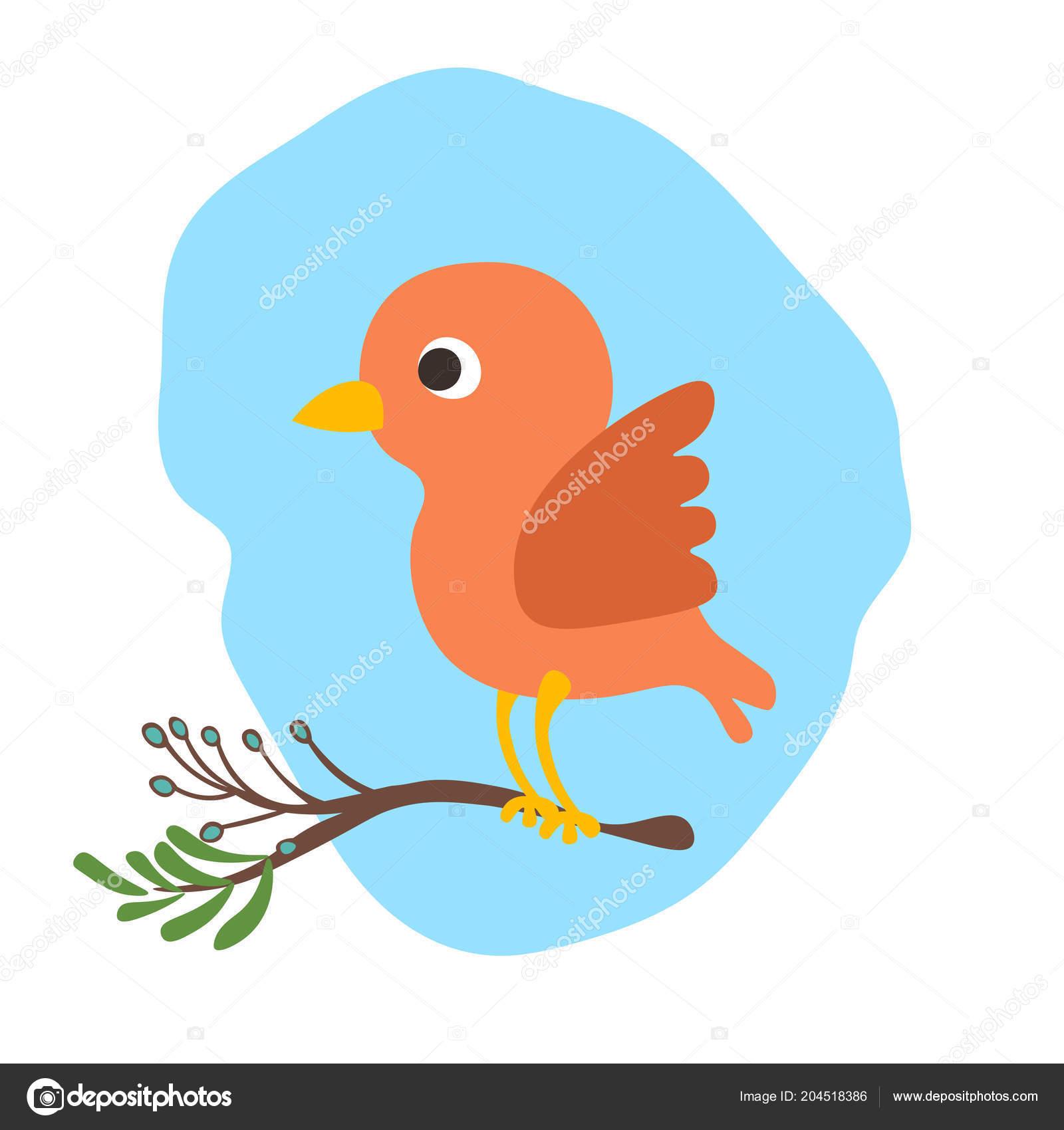 Vetor Desenho Bonito Pássaro Ilustração Sagacidade Bancario