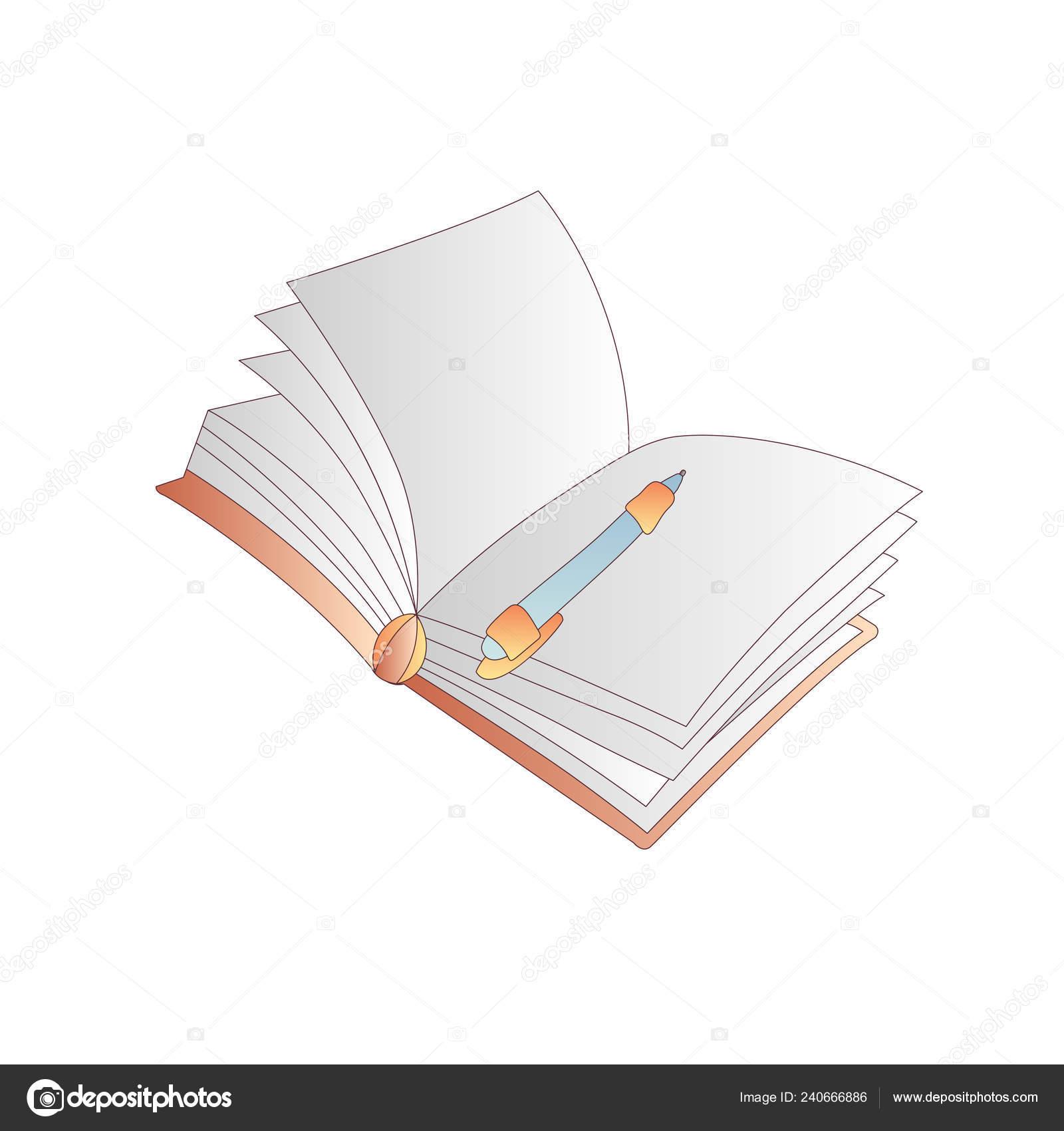 Dessin Anime Mignon Vecteur Livre Cahier Agenda Et Journal