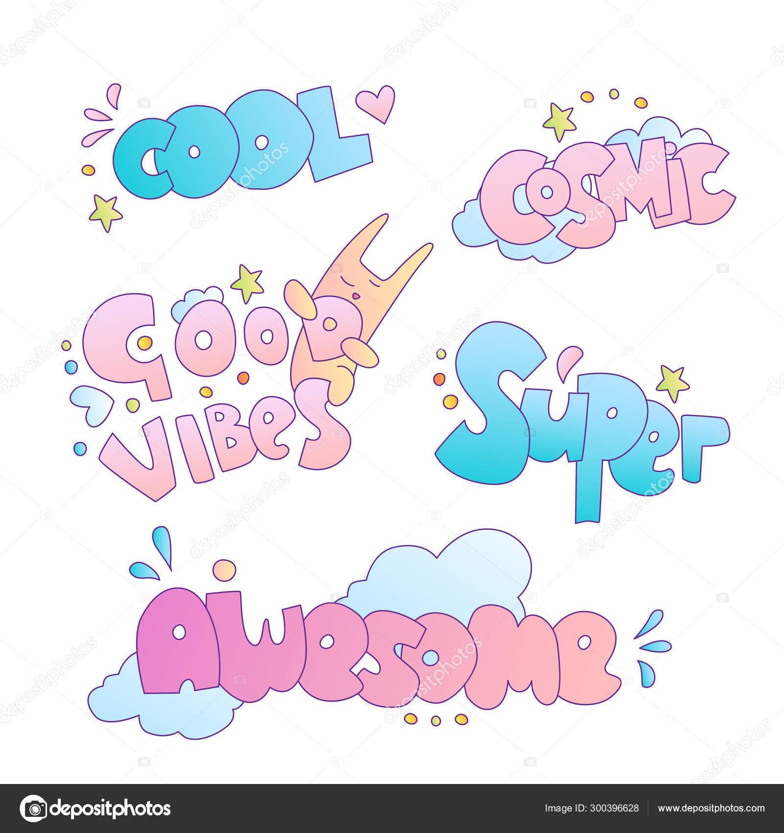 Positivo Lindo Dibujos Animados Niña Y Princesa Pegatinas Y