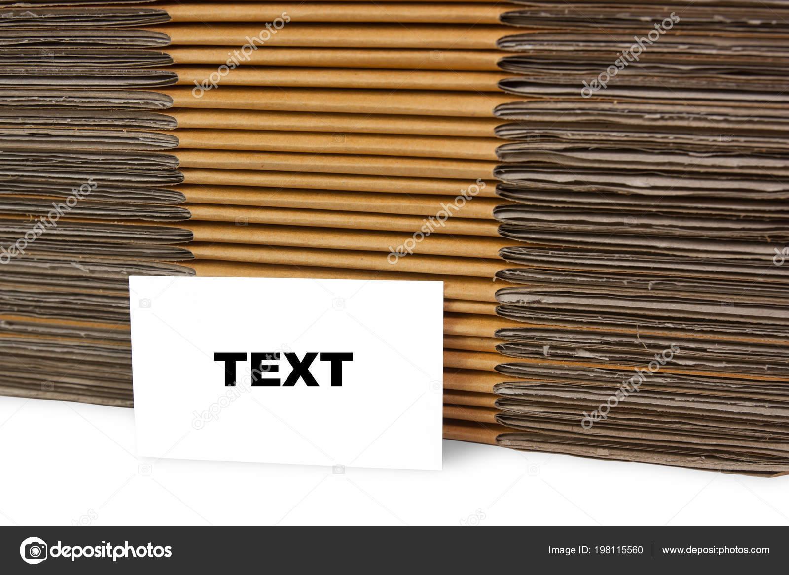 Le Texte Sur La Carte De Visite Les Botes Papier Fond Image Sibadanpics