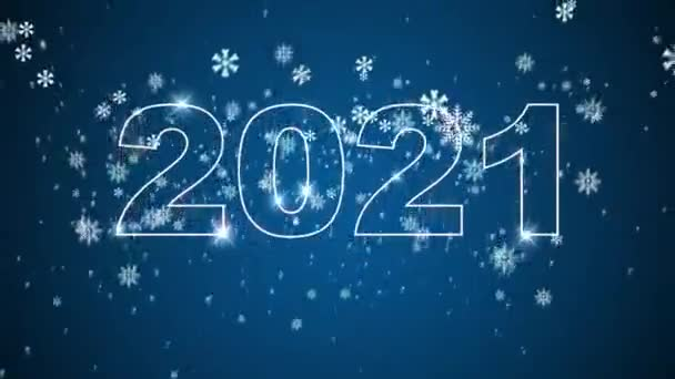 Kvalitní set Nový rok animace. Text 2020 přejde do roku2021. Šťastný nový rok. Rozlišení 4k UHD