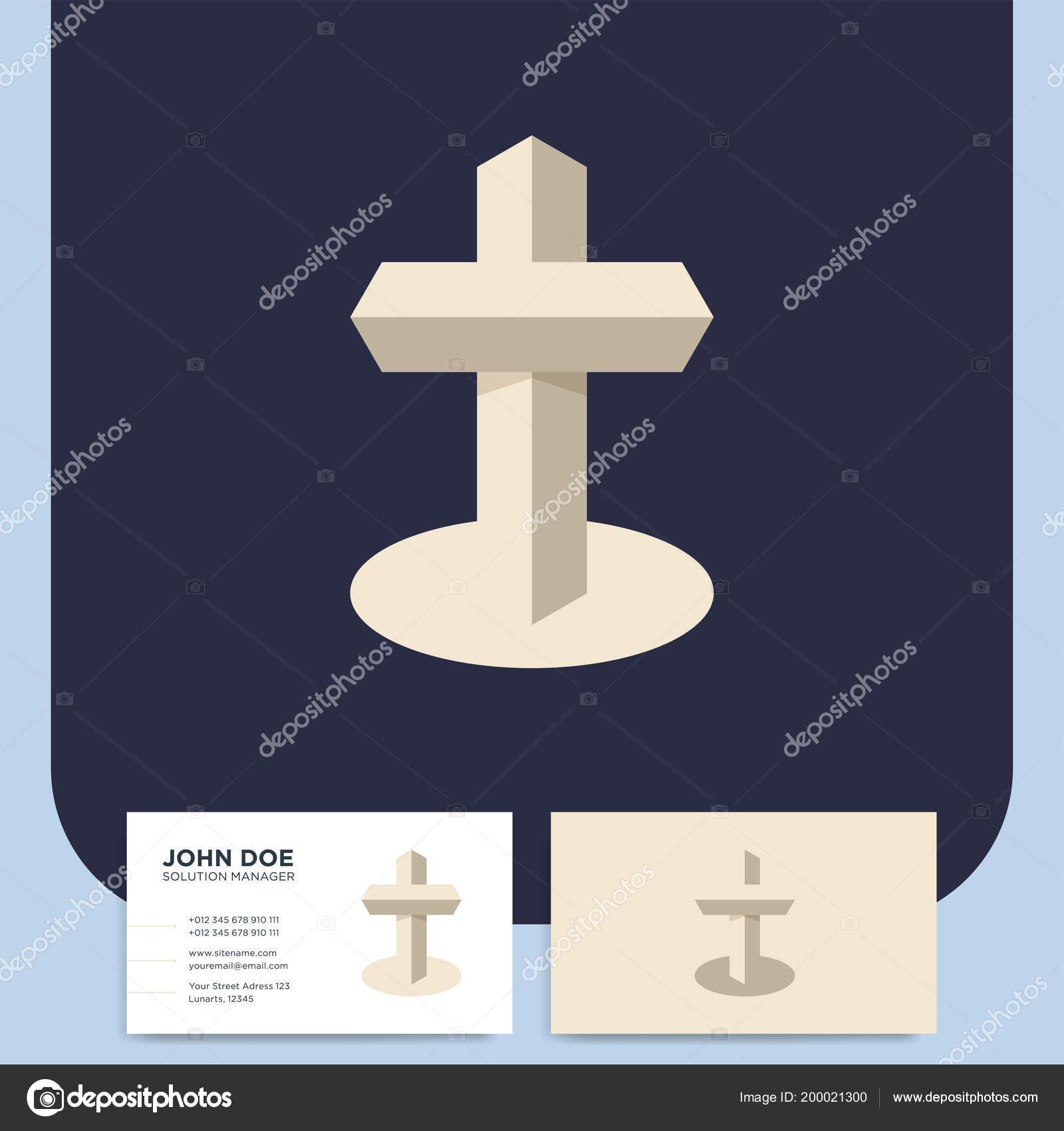 Modern Church Cross Logo Christian Symbol Baptist Lutheran
