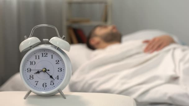 Alarm Clock Ringing In Morning Wake Up Time Day Routine Project Deadline Stock Footage