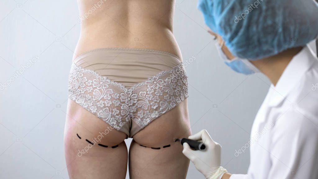 Русское стройной фото укол в женскую попу