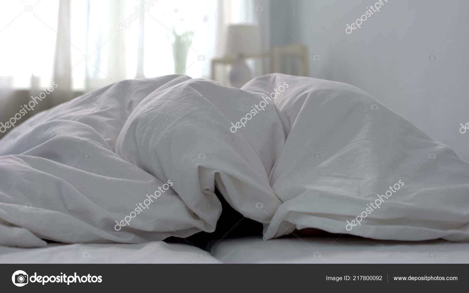 Frische Und Saubere Weiße Bettwäsche Hotelzimmer Waschen