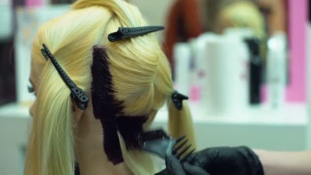 Friseur Farben Kunden Helle Haarfarbe Modernen Styling Trends Farbverlauf