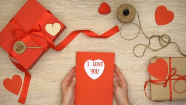 Te Amo Frase Escrita En La Tarjeta De Felicitación Celebración Del Día De San Valentín Presenta