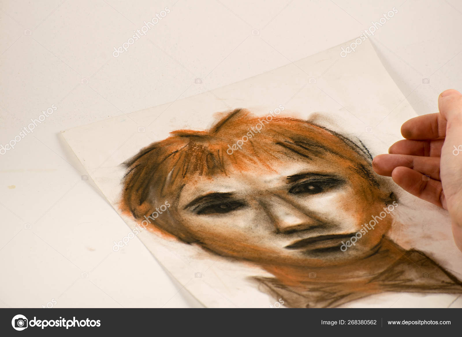 https depositphotos com 268380562 stock photo drawing by sanguine pencil and html