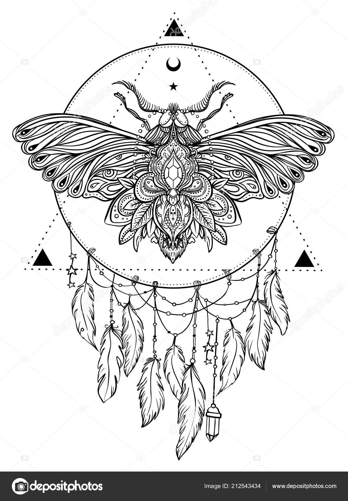 It's just a graphic of Declarative Sacred Geometry Beetle Tattoo Drawing