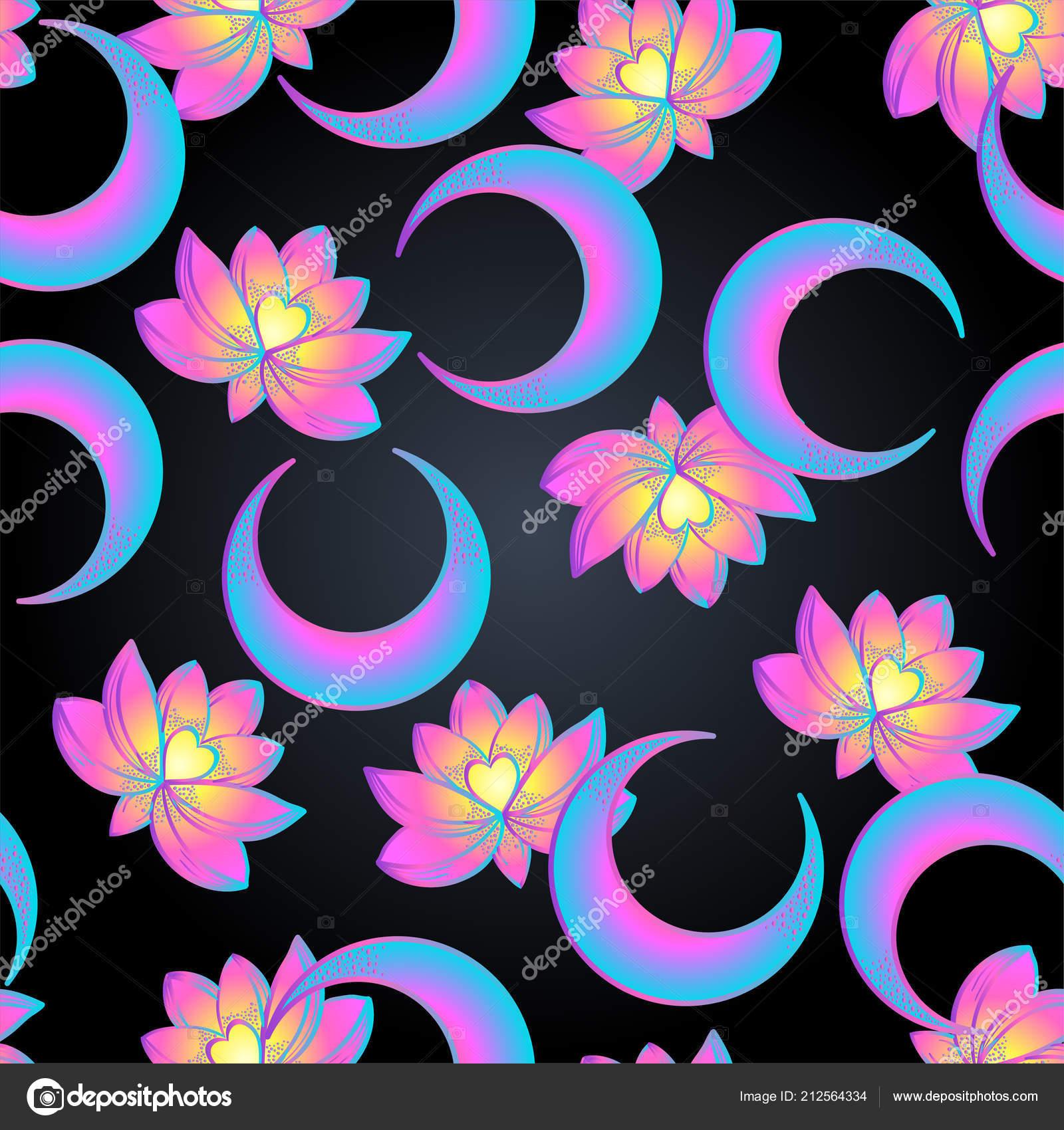 Lotus Sacred Geometry Seamless Pattern Unamole Hindu Symbol Wisdom