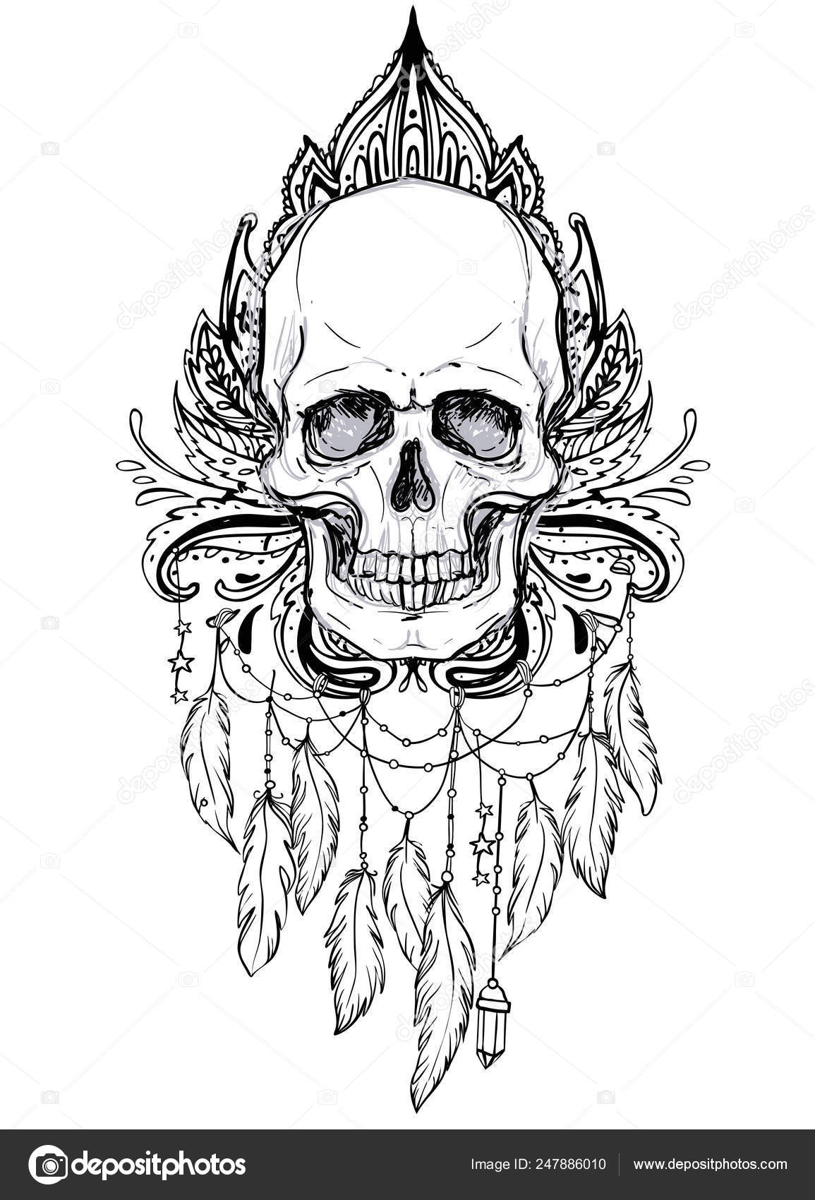 9c1deb1f3 Ayurveda symbol of harmony and balance. Tattoo flesh design, yoga logo.  Boho print, poster, t-shirt textile. Isolated vector illustration.