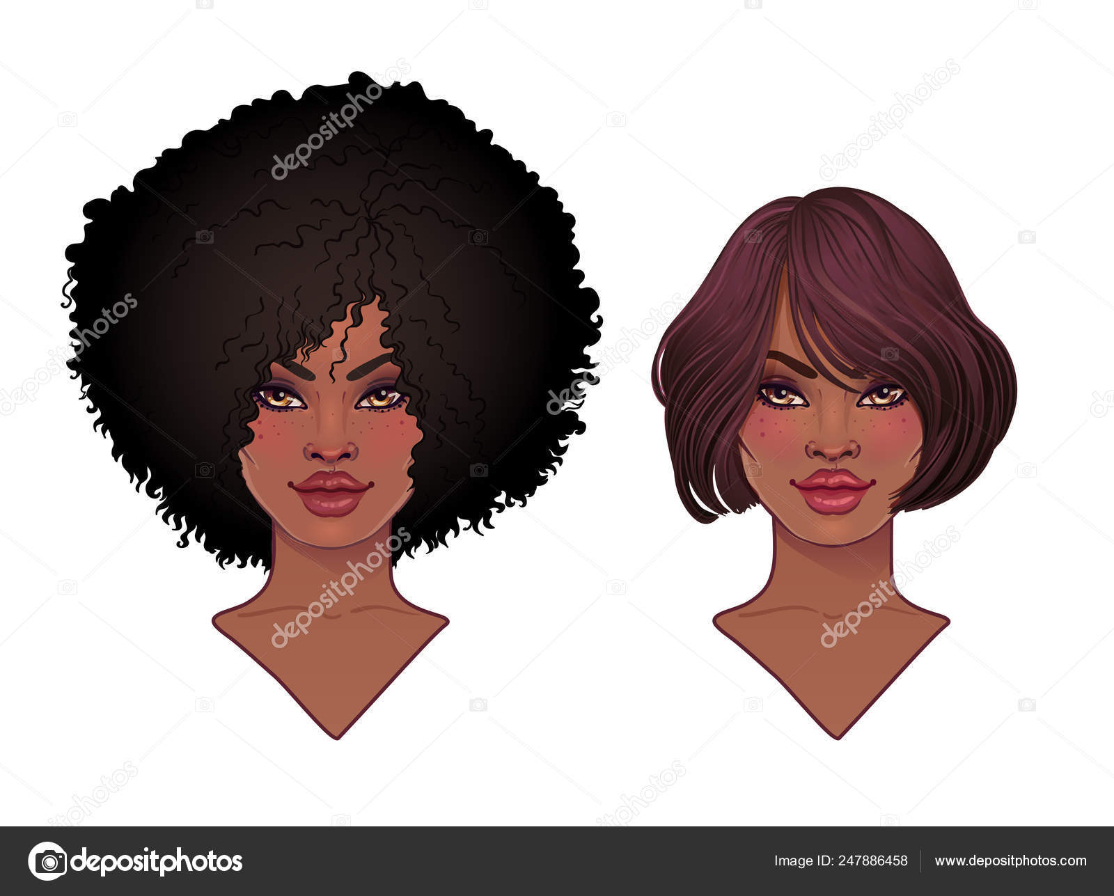 Girl afro vector black Misskyliedesign Free