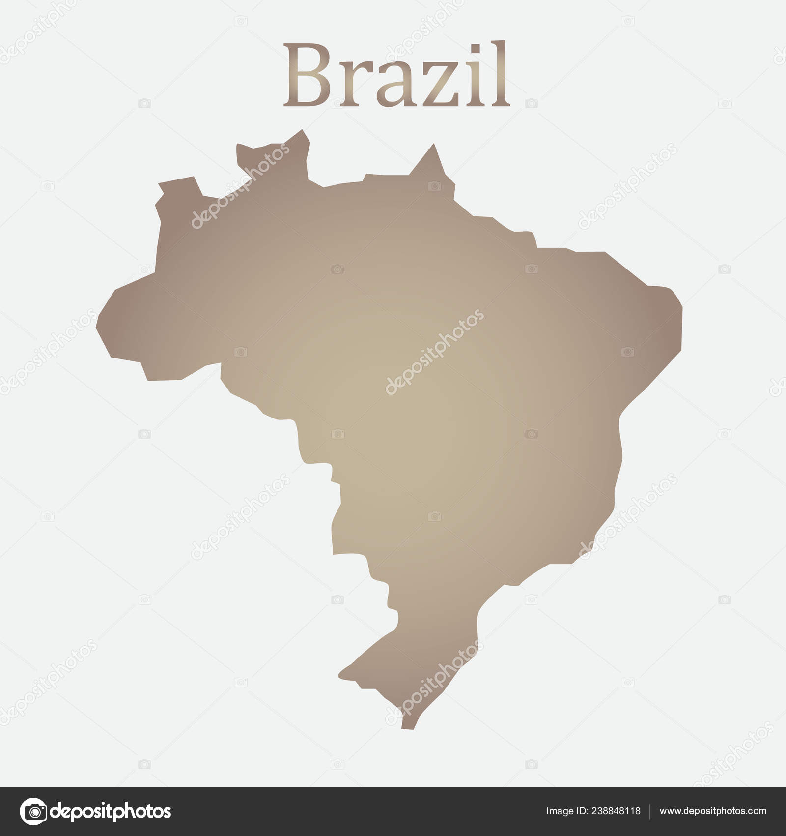 Brazil Map Simple Picture Brazil Country Map Background Brazil World ...