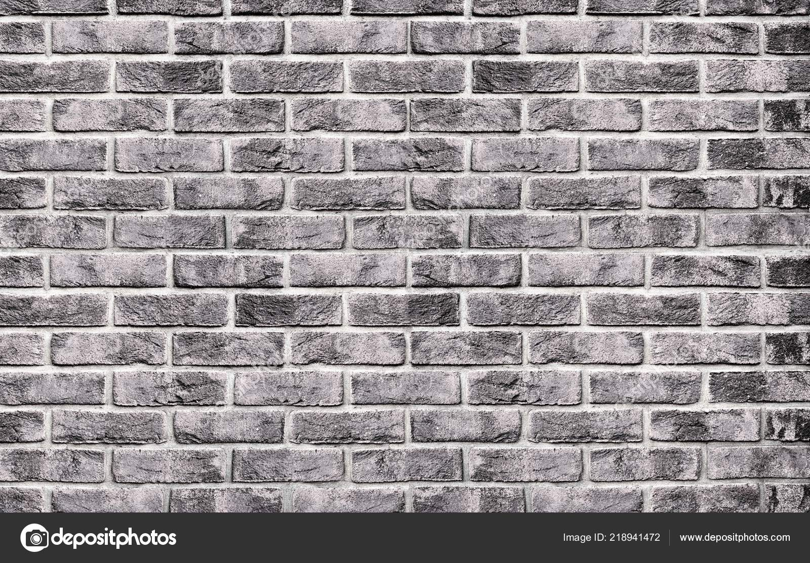 Black and white brick wall background texture from bricks old vintage brick background