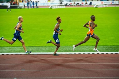 OSTRAVA, CZECH REPUBLIC, SEPTEMBER. 8. 2020: Jacob Kiplimo Uganda long-distance runner in 5000 meters professional athletics race, preparation for olympic game in Tokyo 2021