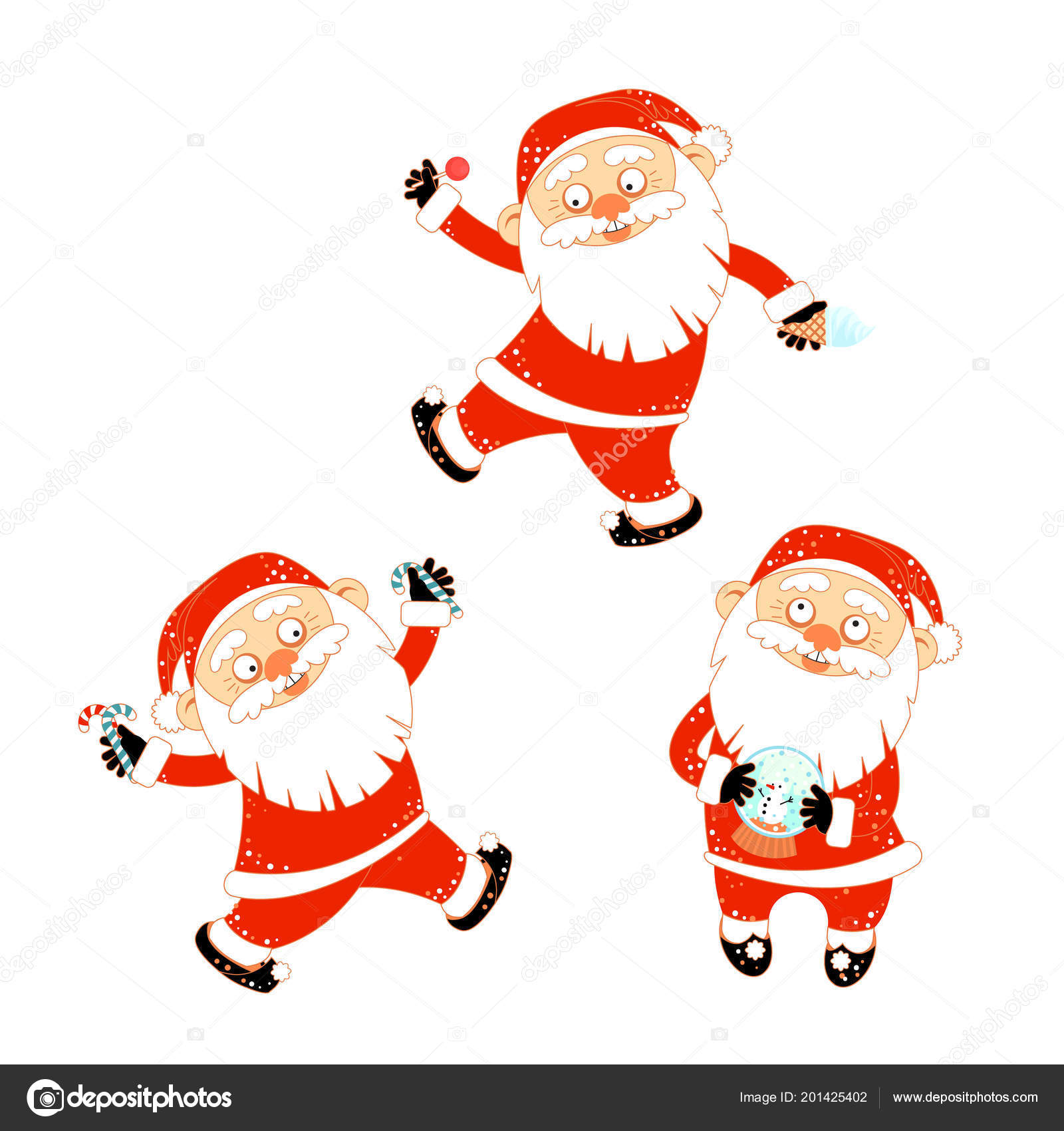 1d325576c5 Collection de stickers avec Noël père Noël — Image vectorielle ...