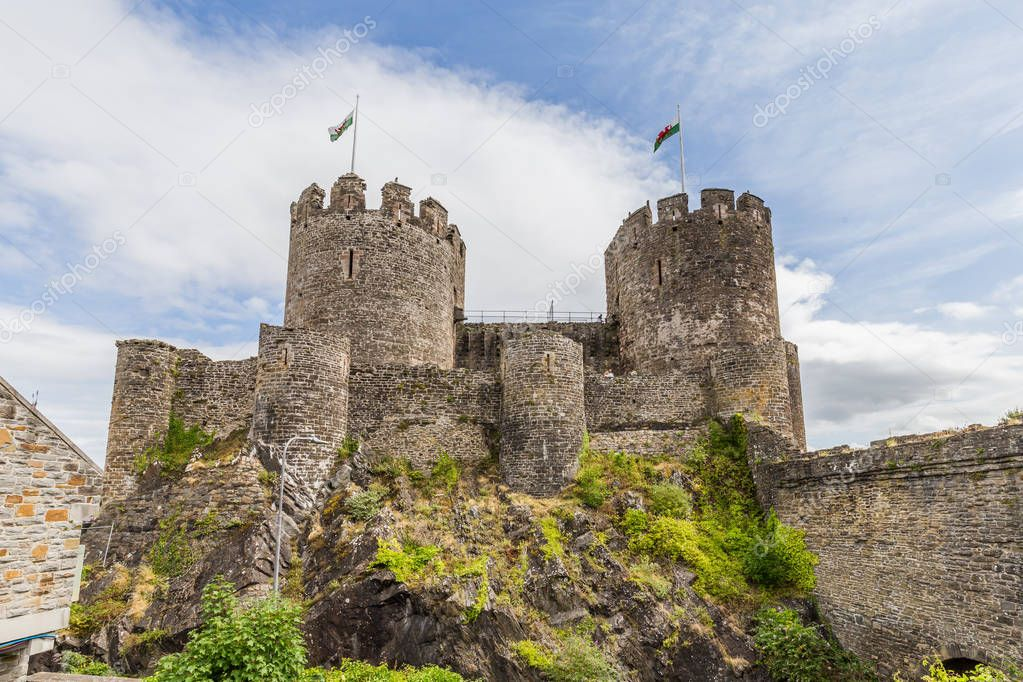 Conwy Castle in Wales, Uk