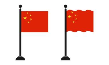 China flag on a pole icon