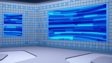 Virtual Broadcasting Studio Looping Abstract Footage Video Green Screen Area