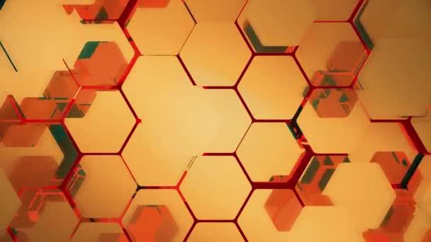 Zusammenfassung Hintergrund Sechsecke zu fliegen. Nahtlose Schleife. Uhd - 4k - 3d Rendering