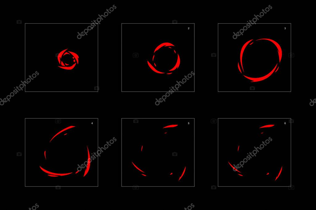 Shine fire effect. Fire explosion animation effect. Animation Sprite sheet for games, cartoon or animation. vector style animation effect 1442. stock vector