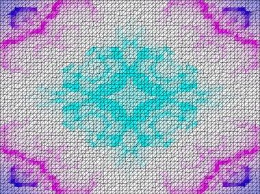 Abstract hexagon geometric seamless pattern. Mosaic background. Vector illustration.