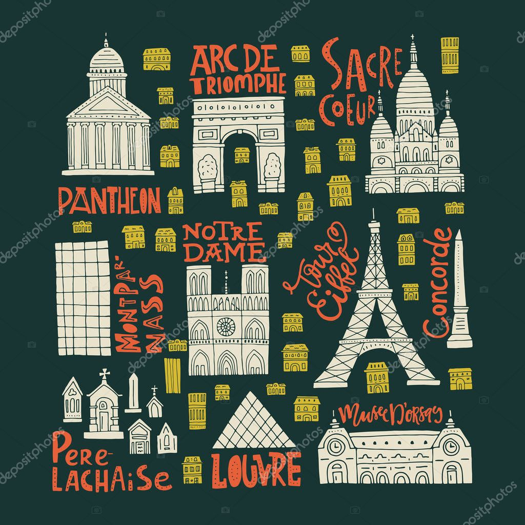 Paris Symbols Clipart