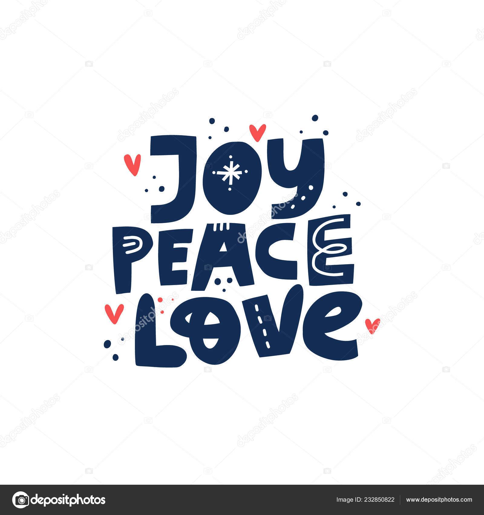 Mano De Gozo Paz Amor Dibujado Vector Letras Archivo