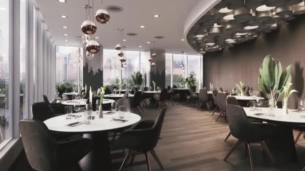 3D interiér moderní restaurace