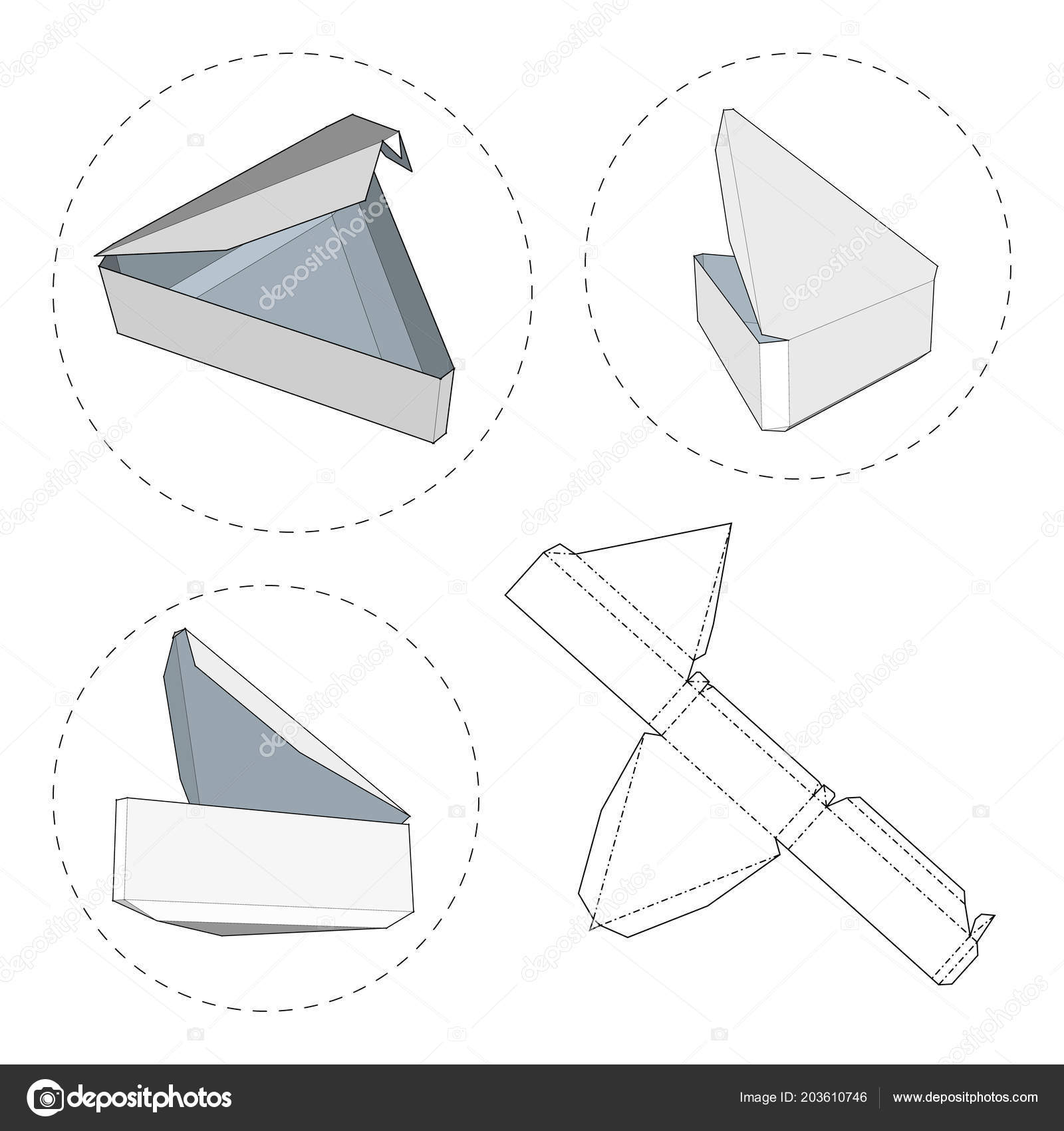 box die cut template packing box food gift other products stock