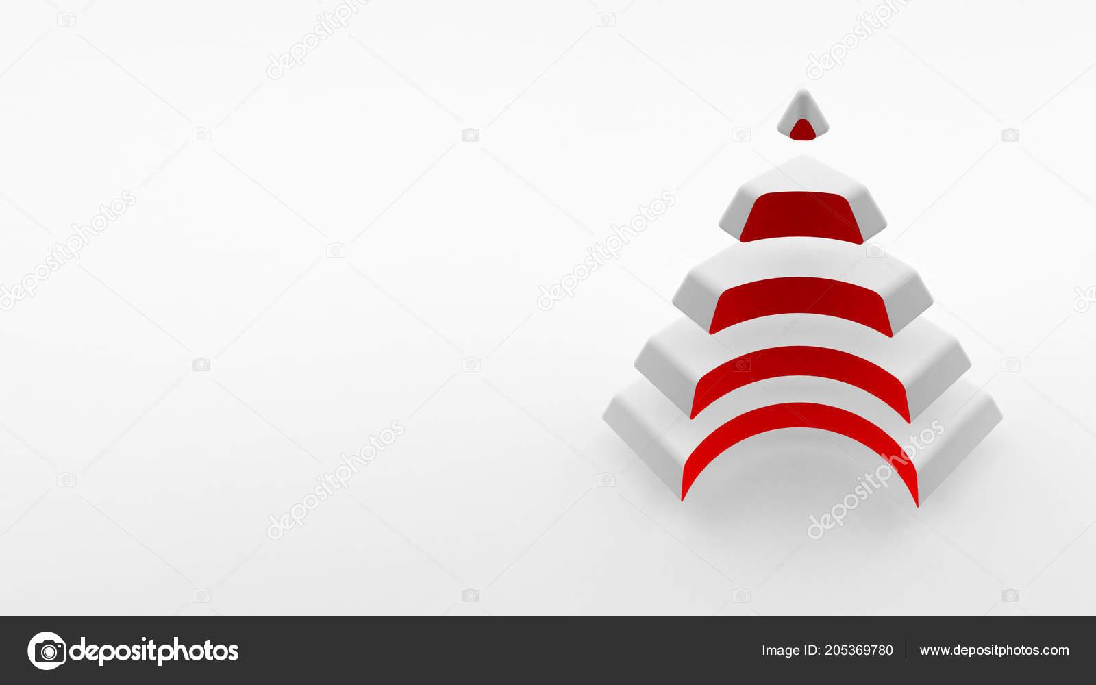 Logo Sfondo Bianco Una Piramide Bianca Con Collo Colore Rosso Foto