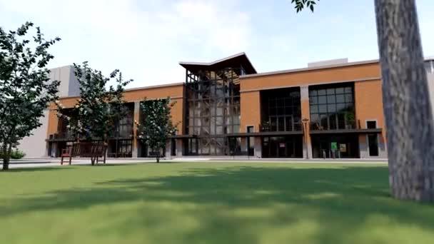 Obchodní a kancelářské centrum s mnoha obchody, kavárnami a restauracemi. Kulturní a zábavní prostor městského životního prostředí. 3D vykreslování.