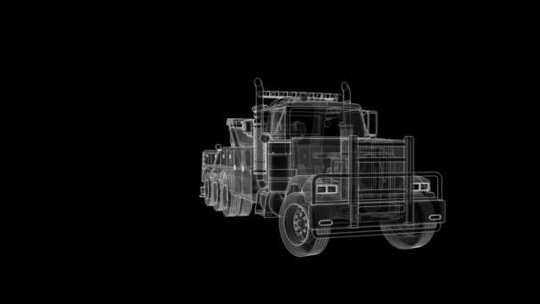 Rakomány vontatót más nagy teherautók, vagy különböző nehézgépek szállítására. 3D-leképezés.